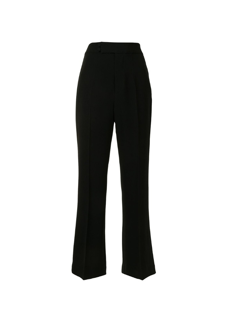 HIGH-WAISTED CENTER CREASED TROUSERS - 아데쿠베