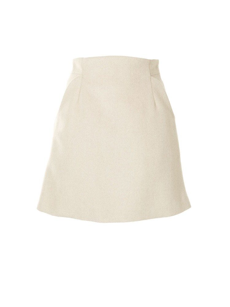 SILK WOOL MINI SKIRT - 아데쿠베