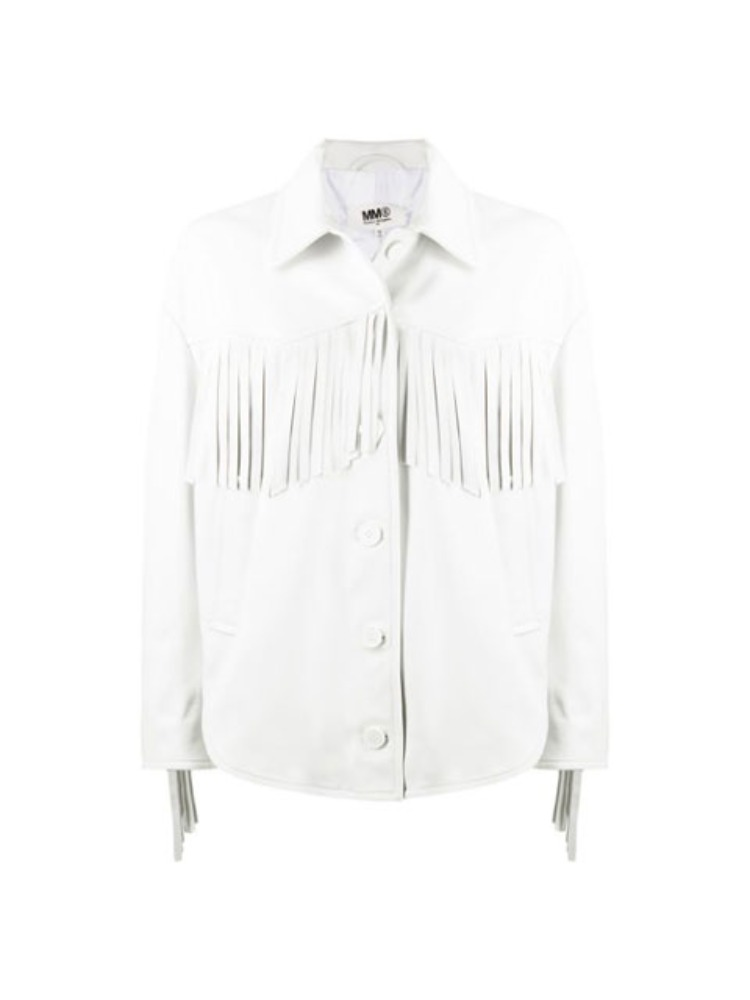 FRINGED LEATHER JACKET - 아데쿠베
