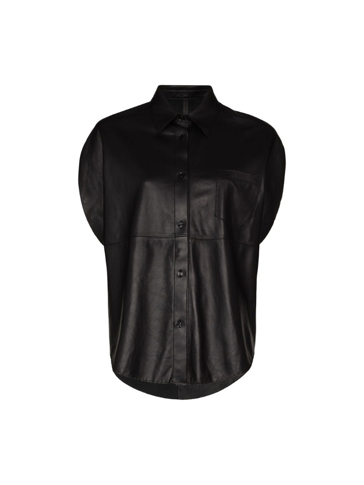 CIRCLE LEATHER SHIRT - 아데쿠베