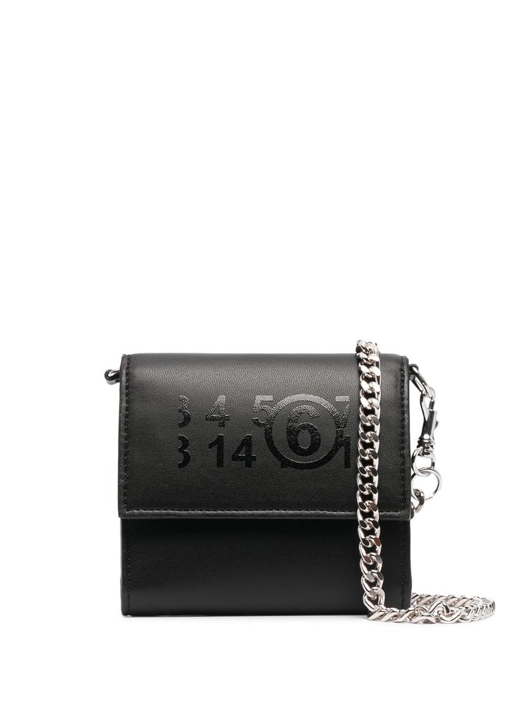 ZOOM IN LOGO WALLET WITH CHAIN - 아데쿠베