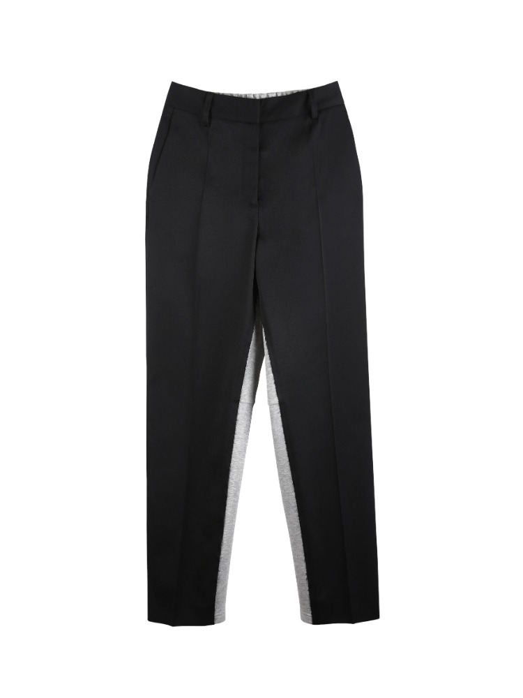 JERSEY BACK TAILORED TROUSERS - 아데쿠베