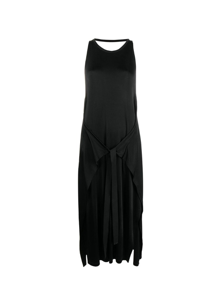 VISCOSE JERSEY DRESS WITH WAIST TIE - 아데쿠베