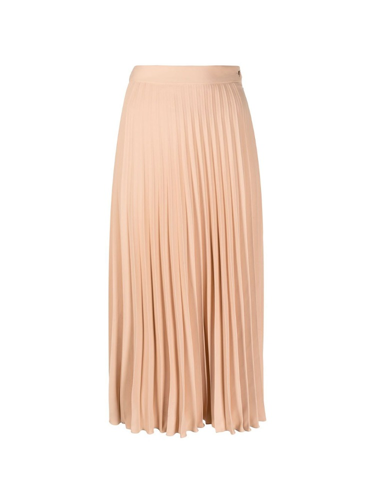 PLEATED FRONT MIDI SKIRT - 아데쿠베