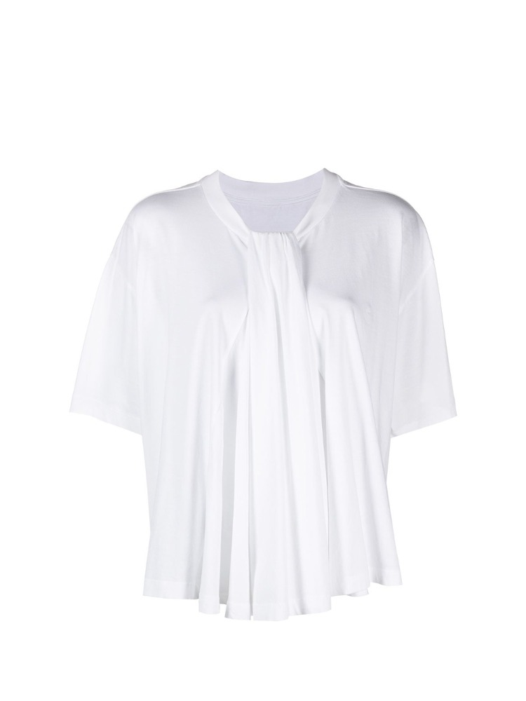 TWSITED NECKLINE T-SHIRT - 아데쿠베