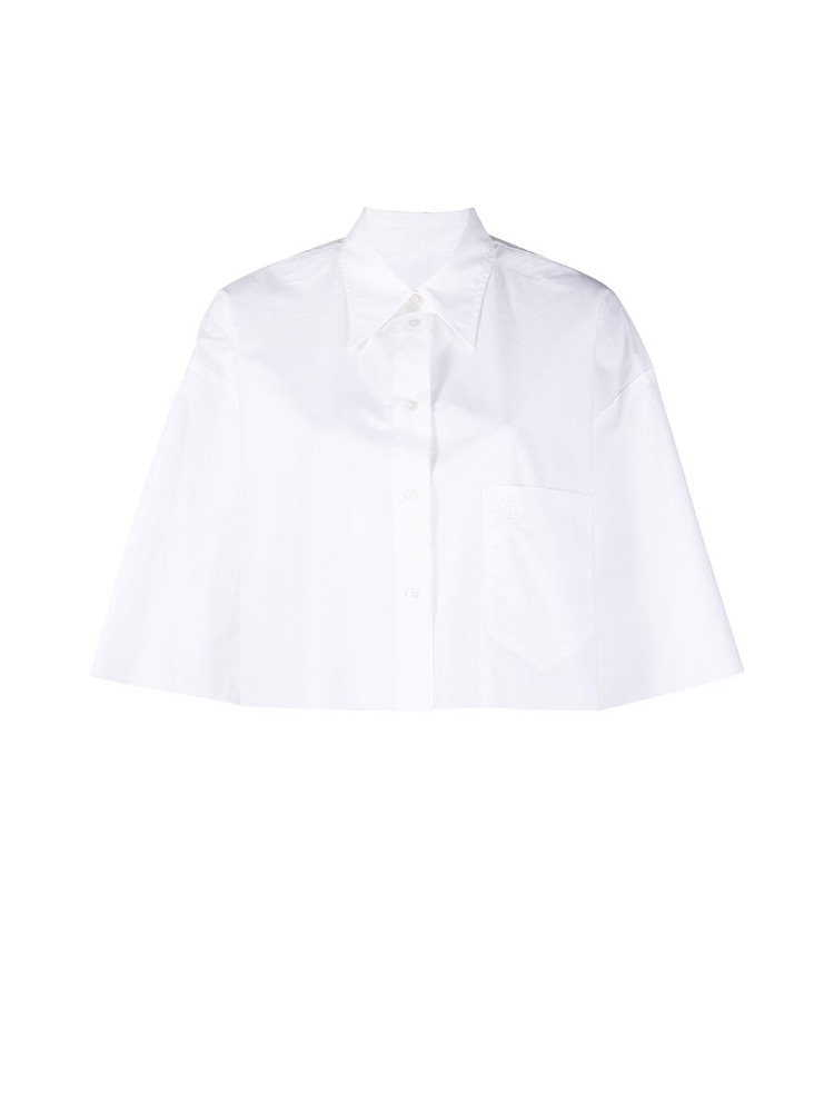 CROPPED COTTON SHIRT - 아데쿠베