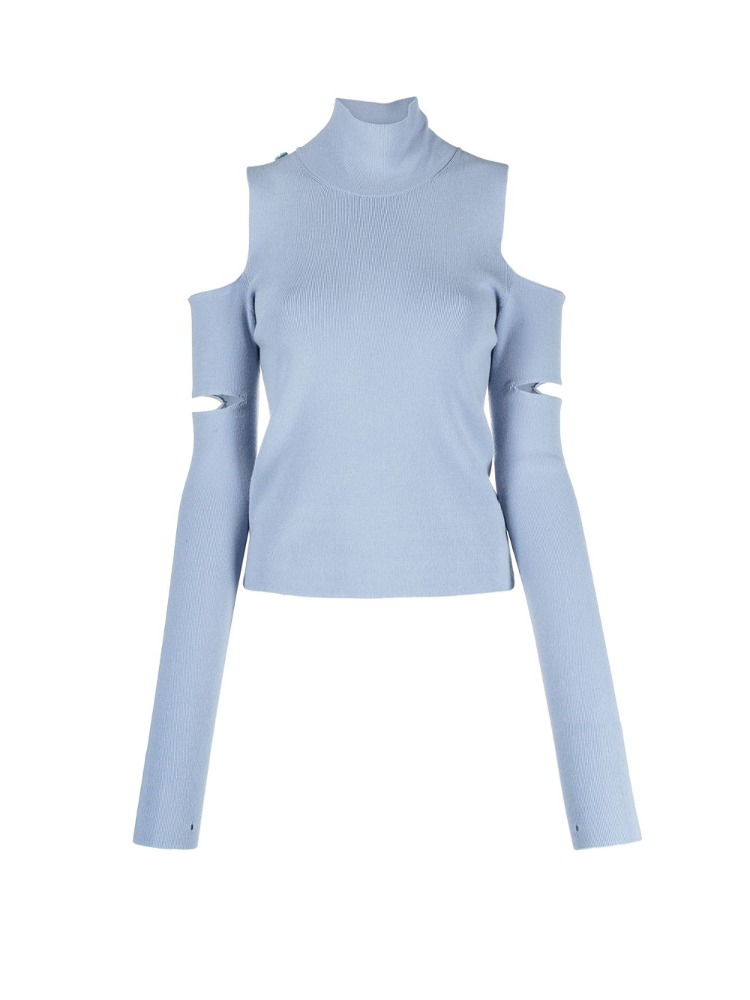 2 WAY CUT-OUT TURTLENECK TOP - 아데쿠베