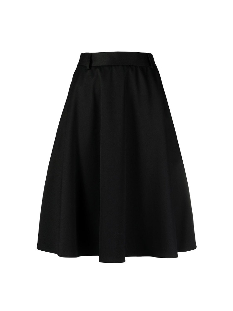 JERSEY BACK A-LINE SKIRT - 아데쿠베