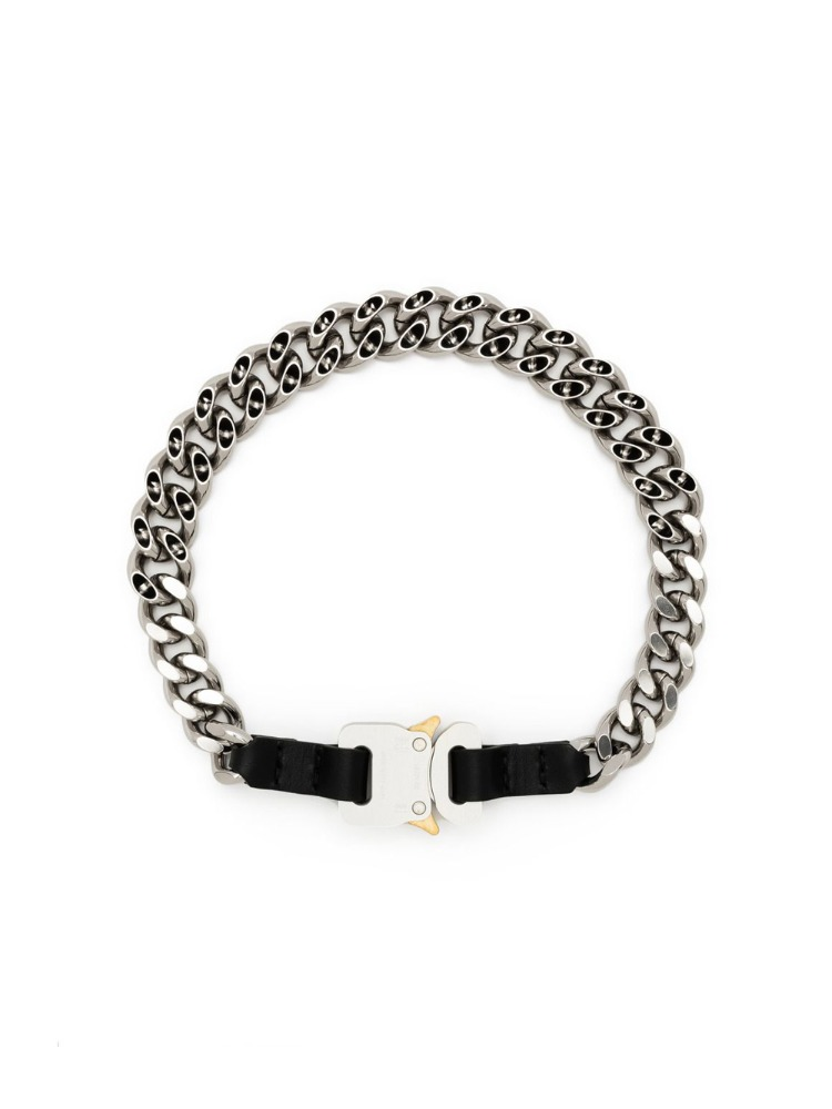 CHAIN NECKLACE W/  LEATHER  DE TAILS - 아데쿠베