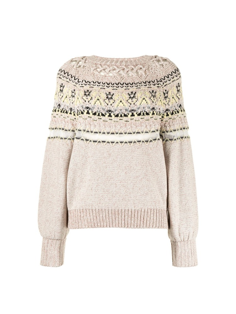 Cotton Nordic Knit Pullover - 아데쿠베