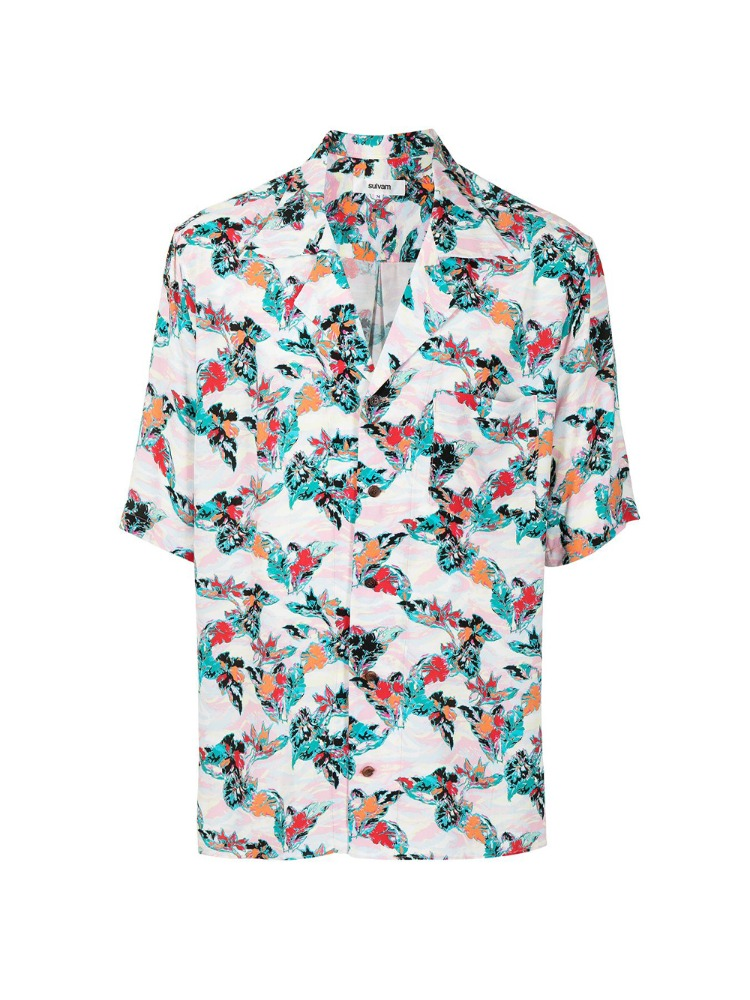 SHORT SLEEVE ALOHA SHIRT - 아데쿠베