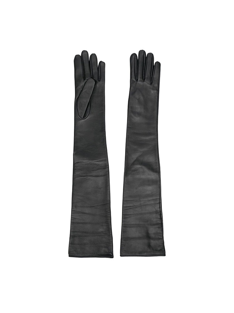 LEATHER LONG GLOVES - 아데쿠베